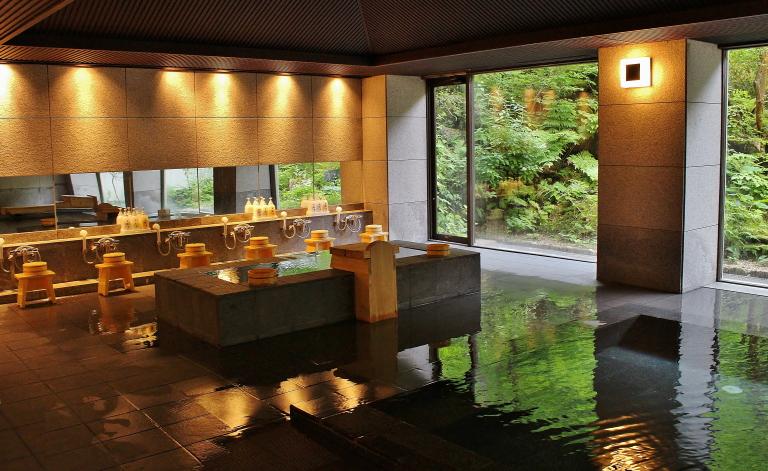 湯西川温泉 室内風呂
