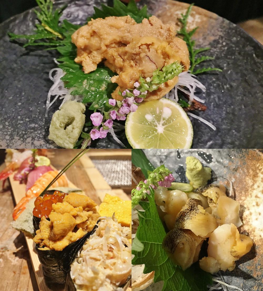 銭函バーベキュー ウニ つぶ貝 寿司