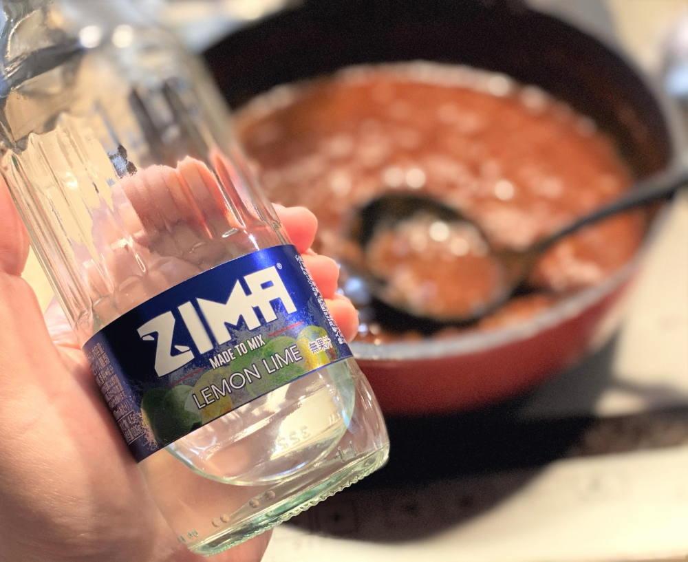 ZIMA カレーと一緒に飲んでみた